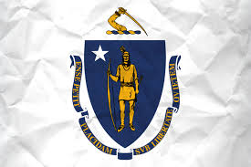 Michigans State Flag Flag Of Massachusetts With Paper Texture Download It For Free