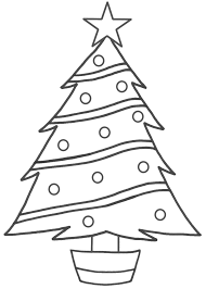 printable christmas tree coloring pages for children pinkie pie