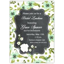 bridal luncheon invitations bridesmaid luncheon invitations plus floral frame bridal luncheon