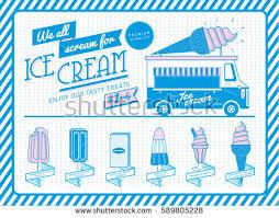 vintage ice cream menu template vectorillustration stock vector