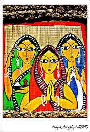 51 best indian art kalighat paintings images on folk paintings of india