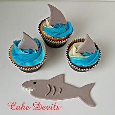 fish cake toppers shark fin fondant cupcake toppers shark cake topper shark