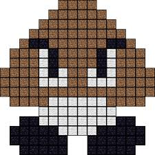goomba pixel art templates creepers and template