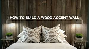 how to build a wood accent wall youtube