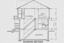 40 house plans section views habs floor plans and sections of the