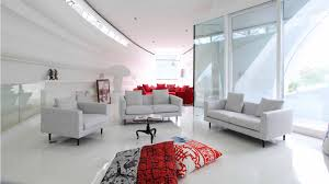 modern futuristic design of the interior bedroom design with pink
