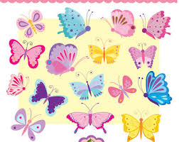 colorful butterflies etsy