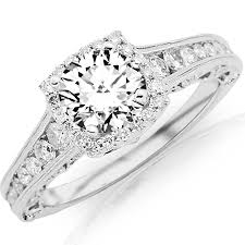 channel set engagement rings 1 75 carat designer halo channel set engagement ring