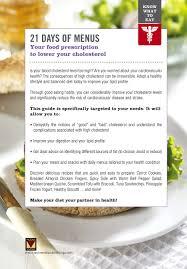 cholesterol 21 days of menus alexandra leduc 9781772860504