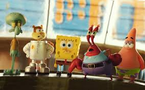squidward sandy spongebob mr krabs and patrick star the