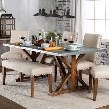 industrial kitchen table furniture furniture of america aralla industrial style dining table free