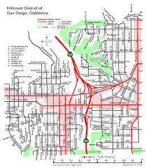 Map Of Balboa Park San Diego by Street Maps Of Central San Diego