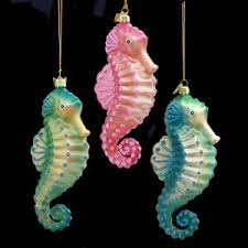 ksa pack of 12 noble gems blown glass tropical seahorse