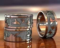 duck band wedding rings duck call bands custom duck rings engagement wedding and