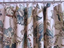 blue window curtains teal drapes blue floral window