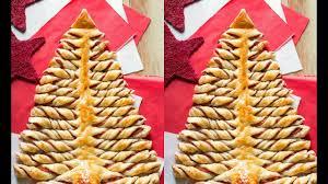 albero di natale di pasta sfoglia christmas tree of puff pastry