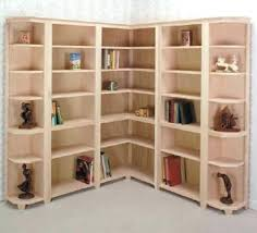Woodworking Plans Corner Shelves by Bookcase Corner Bookcase Shelf Corner Bookcase Solid Wood Corner
