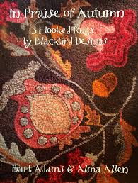 Hooked Rug Patterns Primitive In Praise Of Autumn Three Hooked Rug Patterns By Blackbird