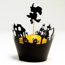 halloween cupcake wrappers toppers haunted graveyard 12 halloween