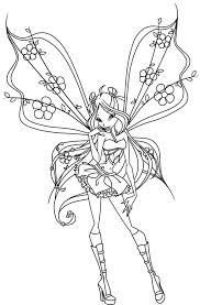 princess bloom the guardian of fairy of domino winx club coloring