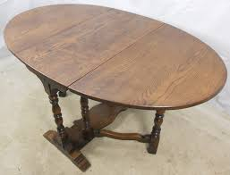 Oval Drop Leaf Dining Table Quality Antique Jacobean Style Oak Oval Dropleaf Dining Table Sold