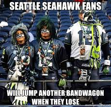 Seahawks Bandwagon Meme - seattle seahawk fans will jump another bandwagon when they lose