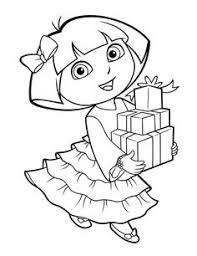 dora birthday coloring pages dora birthday party coloring boots