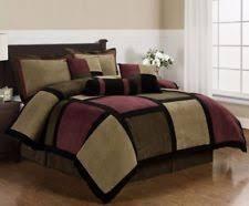 Burgundy Duvet Sets Patchwork Duvet Cover Ebay