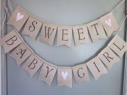 baby shower banners baby girl shower banner sweet baby girl by quaintconfections