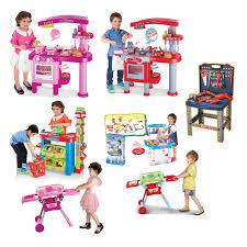 children kids kitchen cooking doctor supermarket bbq play set diy