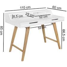 Schreibtisch Weiss 130 Cm Finebuy Schreibtisch Scandi 110 X 85 X 60 Cm Mdf Holz