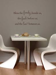 bless family food and love kitchen wall decal quote