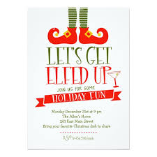 christmas party invitations lets get elfed up christmas party invitatio on party