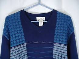 arnold palmer sweater arnold palmer sweater s blue cotton sleeve v neck