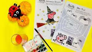 download peppa halloween activity sheets