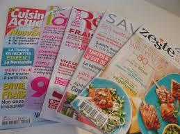 magazines de cuisine et si on faisait un point subjectif sur les magazines de cuisine