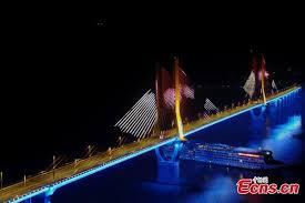 3d light show stunning 3d light show on bridge in sw china all china women s