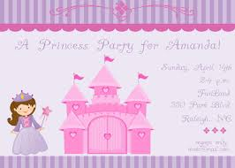 princess invitation wording template best template collection
