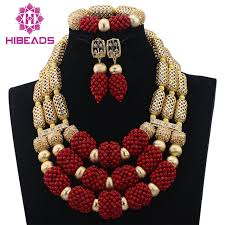 beads wedding necklace images Hot wine red coral pendant wedding necklace set real coral beads jpg