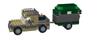 military trailer camper lego ideas off roader with camper trailer