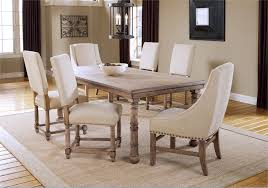 dining room cream wood dining table set rectangular dining room