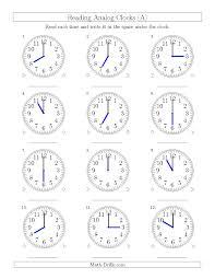 analog time worksheets worksheets