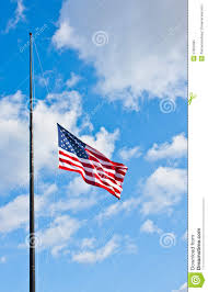 Should Flags Be At Half Mast Half Staff American Flag Stock Image Image Of States 27820485