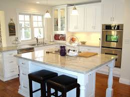 Kitchen Backsplashes With Granite Countertops by Granite Countertop Design With White Cabinets Cream Backsplash