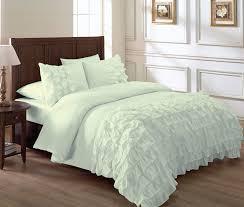 Ruffle Bedding Set Chezmoi Collection Ella 3 Ruffle Solid Comforter Set