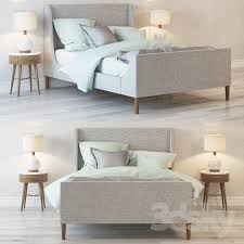 Tufted Sleigh Bed Bed Upholstered Sleigh Bed 3d Models Free Download