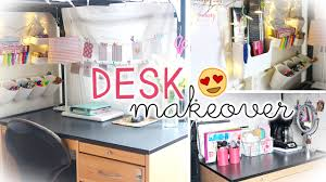 Desk Makeover U0026 Hacks Dorm Wall Storage U0026 Decor Youtube