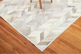 gray leather area rug chevron design shine rugs
