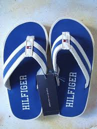 kids tommy hilfiger blue u0026 white flip flops size 10 11 nautical