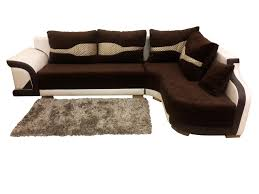 L Shape Sofa Set Designs Decor Small L Shaped Sofa In White Plus Rug And Side Table For